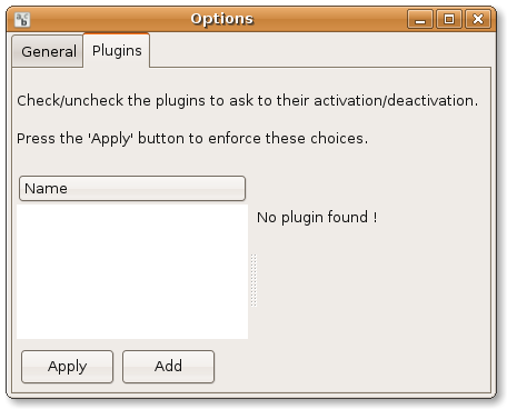 "MathBench ""preferences"" menu makes it possible to add plugins"
